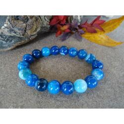 Kék Achát ásvány karkötő 10 mm