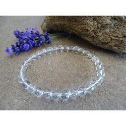 Hegyikristály ásvány karkötő 6 mm