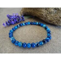 Kék Achát ásvány karkötő 6 mm