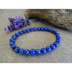 Lápisz Lazuli (Lazurit) ásvány karkötő 6 mm