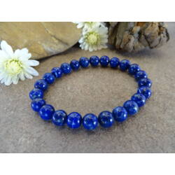 Lápisz Lazuli (Lazurit) ásvány karkötő 8 mm