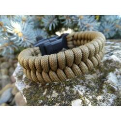 Paracord Fishtail extra karkötő tűzgyújtós csattal - Keki