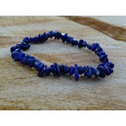 Lápisz Lazuli gömbölyített ásvány karkötő