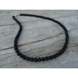 Férfi ásvány nyaklánc matt Ónix - Ónix 6 mm
