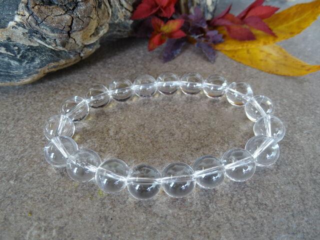 Hegyikristály ásvány karkötő 10 mm