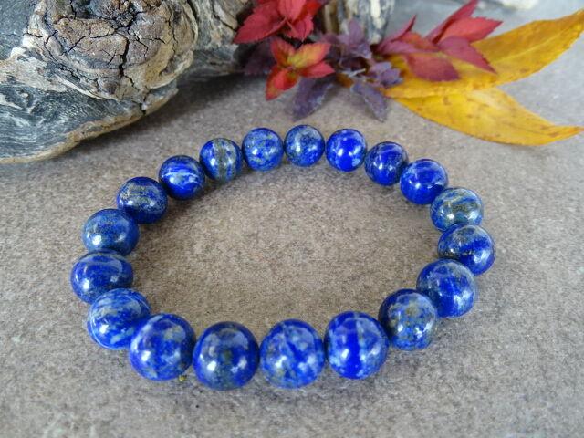 Lápisz Lazuli (Lazurit) ásvány karkötő 10 mm