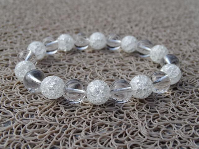 Hegyikristály - repesztett Hegyikristály ásvány karkötő 10 mm