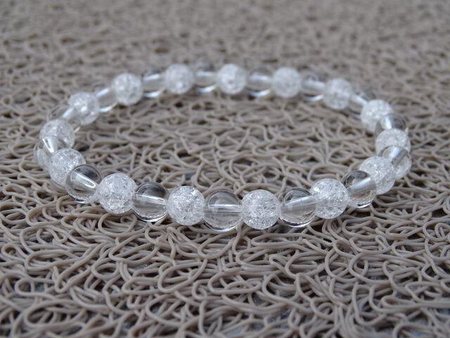 Hegyikristály - repesztett Hegyikristály ásvány karkötő 6 mm