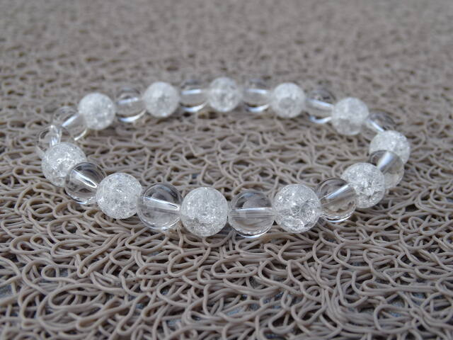 Hegyikristály - repesztett Hegyikristály ásvány karkötő 8 mm