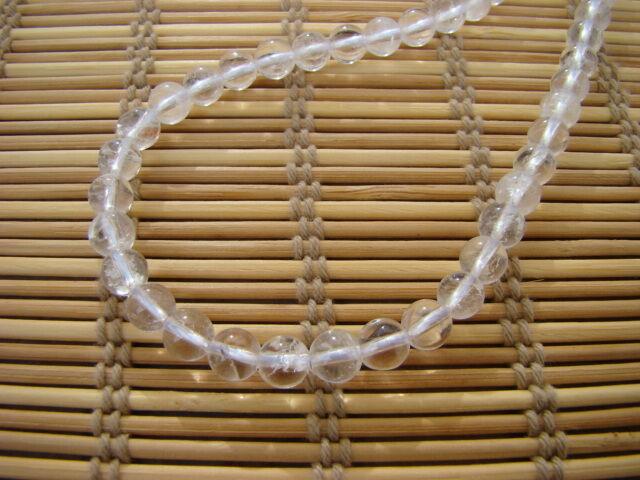 Hegyikristály ávány nyaklánc 6 mm