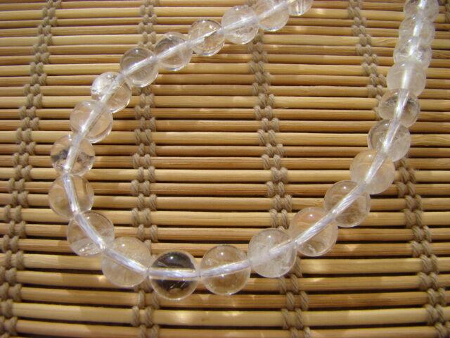 Hegyikristály ásvány nyaklánc 8 mm